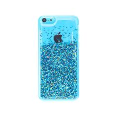 Clear Blue Glitter Phone Case - iPhone 5C, Accessories, all, Phone &... ($11) ❤ liked on Polyvore featuring accessories and tech accessories