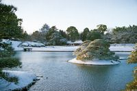 Korakuen in Winter; Okayama prefecture 岡山後楽園