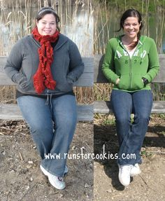 Runs for Cookies: super motivation for weight loss (100  pounds!!!)- This woman is such a big inspiration!! I dont even know her but I am SOOO proud of her! #running #correr #motivacion #concurso #promo #deporte #abdominales #entrenamiento #alimentacion #vidasana #salud #motivacion