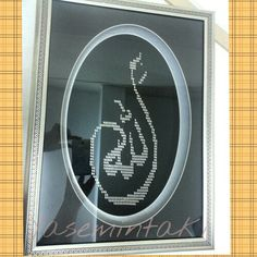 Hand Embroidery, Cross Stitch, Model, Crafts, Inspiration, Alhamdulillah, Allah, Islamic, Biblical Inspiration