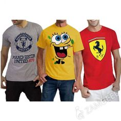 Funky T-Shirts - Pack 03 (460-480-5583-White) Rs: 999 Original Price: Rs. 1249