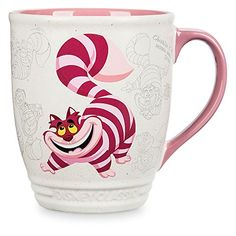Disney Cheshire Cat Mug - Alice in Wonderland Genuine, Original, Authentic Disney Store Large hot beverage mug Authentic vintage Walt Disney Studios animation art Sculptured ''Disney Classic'' title on base Contrast high gloss interior and handle Disney Coffee Mugs, Cute Coffee Mugs, Tea Mugs, Coffee Cups, Disney Dishes, Disney Cups, Disney Kitchen, Teapots And Cups, Cat Mug