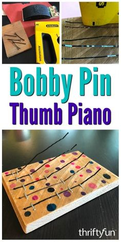 Making one of these hand held musical instruments is a great project to work on with your children. This is a guide about how to make a bobby pin thumb piano. musical instruments How to Make a Bobby Pin Thumb Piano Instrument Craft, Homemade Musical Instruments, Making Musical Instruments, Piano Crafts, Music Crafts, Projects For Kids, Diy For Kids, Music For Kids, Diy Projects