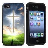 AtomicMarket Rubber Christian Cross iPhone 4 or 4s Case / Cover Verizon or At&T / http://www.contactchristians.com/atomicmarket-rubber-christian-cross-iphone-4-or-4s-case-cover-verizon-or-att/