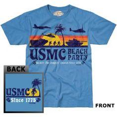 7.62 DESIGN® USMC BEACH PARTY SKY BLUE T-SHIRT - SoldierCity
