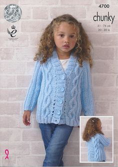 Cardigan and Waistcoat in King Cole Big Value Chunky (4700) | New Products | Deramores