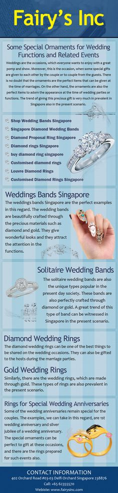 Shop today for wedding bands, engagement rings, diamond rings, solitaire rings, proposal rings, customized diamond rings from Fairy's Inc Store Singapore.