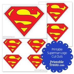 Printable Superman Logo Cut Outs