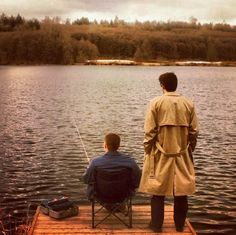 it was a beautiful dream, 'cause Dean looked so relaxed and enjoying fishing <3 ;) #Dean #Cas #Supernatural 4x20
