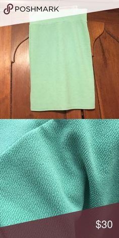 """LuLaRoe Cassie size large. Worn once, never washed. Described to me by consultant as """"mint"""" color. Per my eyes, could be described as """"sage"""". Second pic taken outdoors to show in different lighting. LuLaRoe Skirts Pencil"""