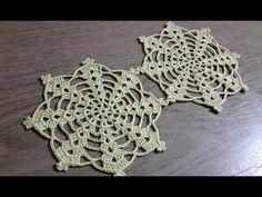 Crochet Motifs, Thread Crochet, Crochet Lace, Crochet Patterns, Crochet Christmas Ornaments, Crochet Snowflakes, Handmade Ornaments, Crochet Table Topper, Mercerized Cotton Yarn