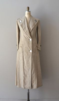 Edwardian linen coat / 1910s duster coat