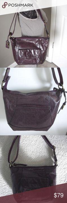 a62fed59d624c9 Fossil Montreal Crossbody Shoulder Bag Brand new Fossil Montreal Crossbody  in Eggplant (Deep Purple)