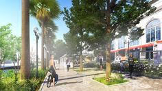 Sochi Gorkogo Concept development for territory adjacent to the multifunctional shopping and entertainment complex. Parking Design, Urban Design, Mall, Street View, Star, Landscape, Scenery, Landscape Paintings, All Star