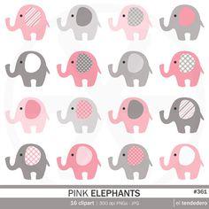 Clipart de elefantes rosas pink elephants para por eltendedero