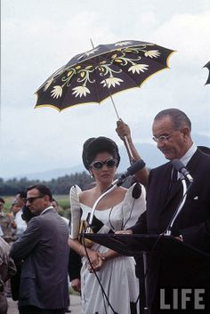 First Lady Imelda Marcos and US President Lyndon B. Johnson