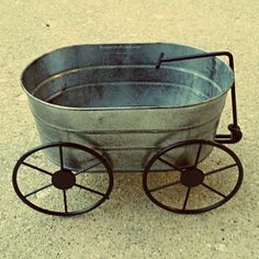 Metal Wheelbarrow Miniature Fairy Garden by TheEnchantedAcorn