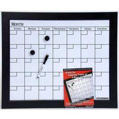 Dry erase/ magnetic calendar