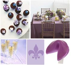 Elegant Purple Baby Shower Theme- Lavender is simple and very pretty, maybe not the fortune cookie lol