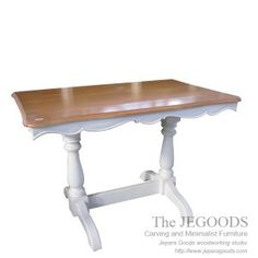 Paris Long Dining Table is stunning white painted furniture. Jepara antique mahogany french dining table carving white paint furniture manufacturer.
