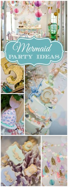 I'm loving this lovely sparkly mermaid party! See more party ideas at CatchMyParty.com!