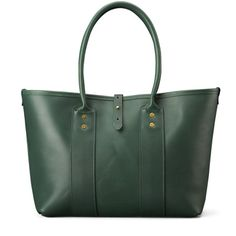 The Market Tote in Evergreen Leather encompasses style and versatility
