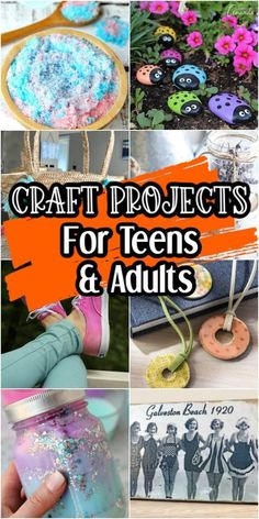 Mar 2020 - Looking for some great crafts for teenagers and adults? There are tons of great ideas out there for kids, but not many for teens, young adults and adults who love to craft. Easy Crafts For Teens, Craft Projects For Adults, Adult Crafts, Easy Diy Crafts, Diy For Teens, Crafts To Do, Diy Craft Projects, Craft Tutorials, Craft Ideas