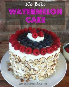 No Bake Watermelon Cake Recipe