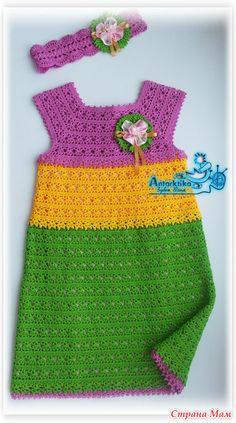 Crochet Toddler, Baby Girl Crochet, Crochet Baby Clothes, Crochet For Boys, Crochet Top, Boy Crochet Patterns, Baby Dress Patterns, Toddler Girl Dresses, Girl Outfits