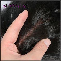 Sunnymay Three Part Silk Base Lace Closure Medium Brown Straight Brazilian Virgin Hair Silk Based Top Closures In Stock