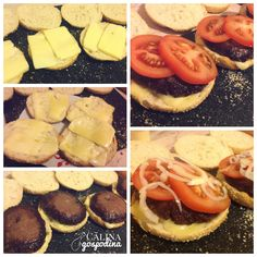 Burgeri acasa // Homemade burgers Homemade Burgers, Camembert Cheese, Lunch, Food, Homemade Hamburgers, Meals, Lunches, Yemek, Eten