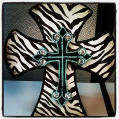 Zebra+ Bling + Cross = My Style