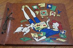 Vintage Scrapbook Penny Girl Next Door 1950s by strangenotions, $17.95