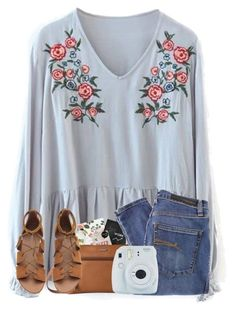 """Shopping was fun today!"" by cassieq6929 ❤️ liked on Polyvore featuring Nobody Denim and Fujifilm"