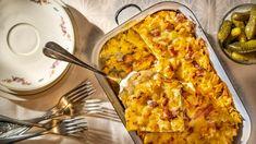 Šunkofleky s uzeným masem jako od babičky Hawaiian Pizza, Cooking Recipes, Pasta, Cheese, Bulgur, Chef Recipes, Pasta Recipes