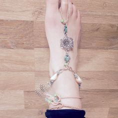 Boho Turtle & Sea Festival Crochet Barefoot Sandals