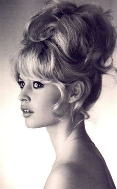 Brigitte Bardot. The first original messy bun..                                                                                                                                                                                 More