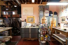 Charles Dwyer's studio