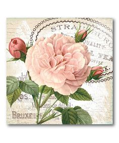 Take a look at this Shabby Chic Roses I Canvas Wall Art by COURTSIDE MARKET on #zulily today!