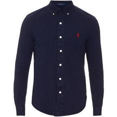 Polo Ralph Lauren Button-down collar cotton-piqu� shirt ($90) ? liked