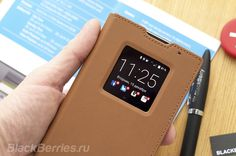 Обзор чехла BlackBerry Leather Smart Flip Case для PRIV   BlackBerry в России