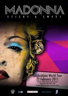 Madonna - Sticky & Sweet - Celebrations World Tour 2011 - Mini Print