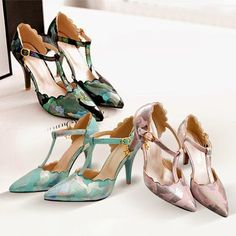 【Fashion Pointed Toe Belt Buckle Stiletto Shoes】This pair of shoes features pointed toe,high-heeled and anti-slip sole design, which make you look more slim and keep you comfortable. Adjustable belt buckle style. Pair it with your stylish dresses,you would be glamorous and eye-catching.