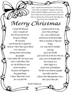 Christmas Poems For Kids | Kid, Kids christmas and Poems for children