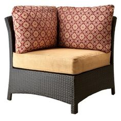 Willoughby Wicker Patio Sectional Corner Chair - Brown