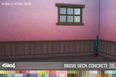 Dark Brown Paneling Above-Deck Wallpapers at Oh My Sims 4 via Sims 4 Updates