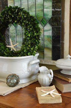 Vintage Ironstone Foot Bath-Housepitality Designs