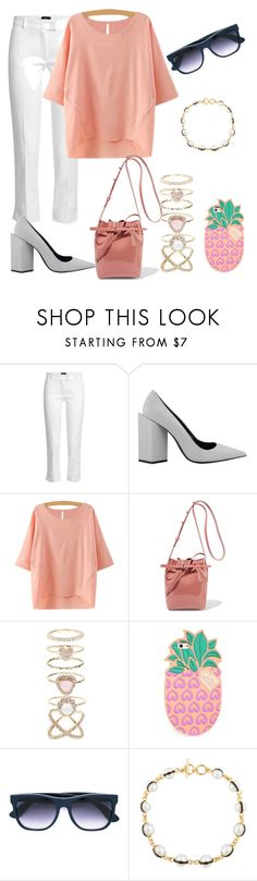 """""""Untitled #297"""" by sevncblt ❤ liked on Polyvore featuring Joseph, Pierre Hardy, Mansur Gavriel, Accessorize, Lolli Swim, RetroSuperFuture and Kenneth Jay Lane"""