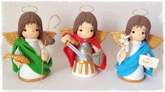 Saint Tattoo, Pasta Flexible, Biscuits, Polymer Clay, Santa, Kawaii, Christmas Ornaments, Disney Princess, Disney Characters