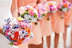 Bundles of flowery joy for you and your bridesmaids :) http://onthegobride.com/2015/03/summer-pennsylvania-wedding-liberty-house-restaurant/    http://www.ashleybartoletti.com/